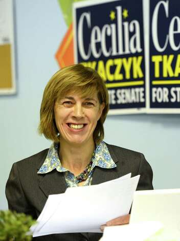 Cecilia Tkaczyk who will run against George Amadore for State Senate at her campaign headquarters in Guilderland, N.Y. Oct 19, 2012.     (Skip Dickstein/Times Union) Photo: Skip Dickstein / 00019732A