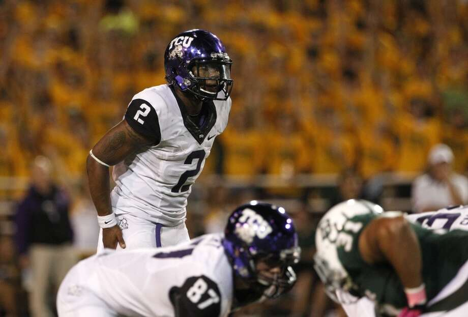 Trevon Boykin, TCU, 21-40-1, 185 yards, 1 TD   Tony Gutierrez/Associated Press (Associated Press)