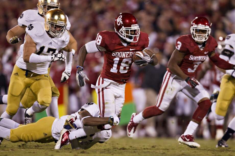 Jalen Saunders, Oklahoma, 15 catches, 181 yards, 0 TDsWesley Hitt/Getty Images (Getty Images)
