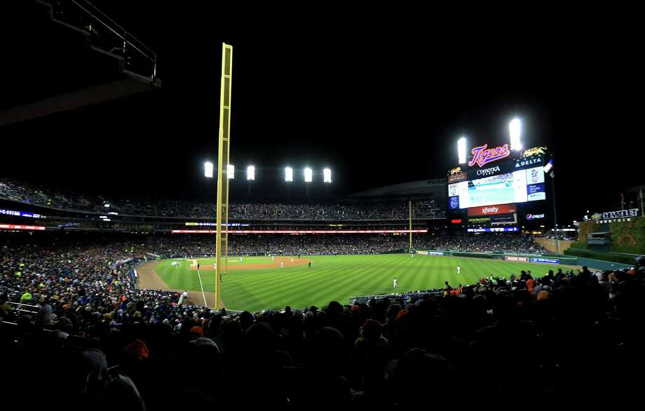 DETROIT, MI - OCTOBER 27:  The Detroit Tigers take the field against the San Francisco Giants during Game Three of the Major League Baseball World Series at Comerica Park on October 27, 2012 in Detroit, Michigan. Photo: Doug Pensinger, Getty Images / Getty Images North America