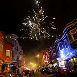 Fireworks erupted over North Beach after the Giants victory. Giants fans in North Beach went wild as their baseball team won their second World Series title in three years Sunday October 28, 2012.