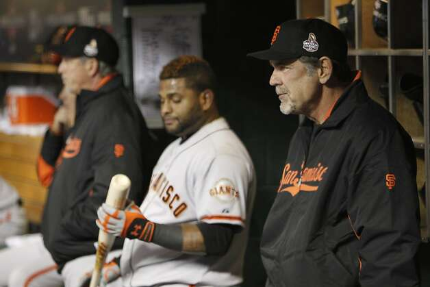 Bruce Bochy watches the game during game 4 of the World Series at Comerica Park on Sunday, Oct. 28, 2012 in Detroit, MI. Photo: Michael Macor, The Chronicle