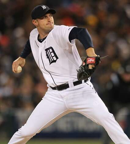 Tigers' pitcher Max Scherzer throws in the 1st inning during game 4 of the World Series at Comerica Park on Sunday, Oct. 28, 2012 in Detroit, MI. Photo: Lance Iversen, The Chronicle
