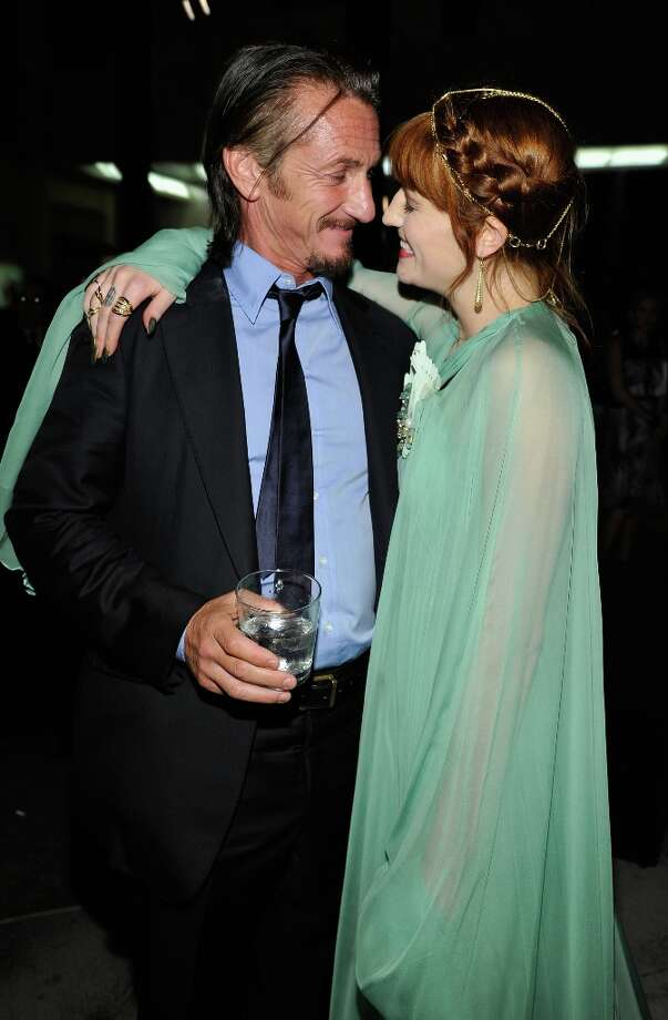 Actor Sean Penn and singer Florence Welch attend LACMA 2012 Art + Film Gala Honoring Ed Ruscha and Stanley Kubrick presented by Gucci at LACMA on October 27, 2012 in Los Angeles, California. Photo: John Sciulli, Getty Images For LACMA / 2012 Getty Images