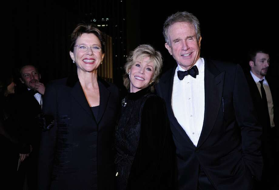 (L-R) Actors Annette Bening, Jane Fonda and Warren Beatty attend LACMA 2012 Art + Film Gala Honoring Ed Ruscha and Stanley Kubrick presented by Gucci at LACMA on October 27, 2012 in Los Angeles, California. Photo: John Sciulli, Getty Images For LACMA / 2012 Getty Images