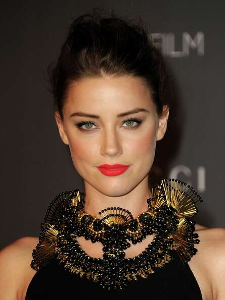 Actress Amber Heard arrives at LACMA 2012 Art + Film Gala at LACMA on October 27, 2012 in Los Angele