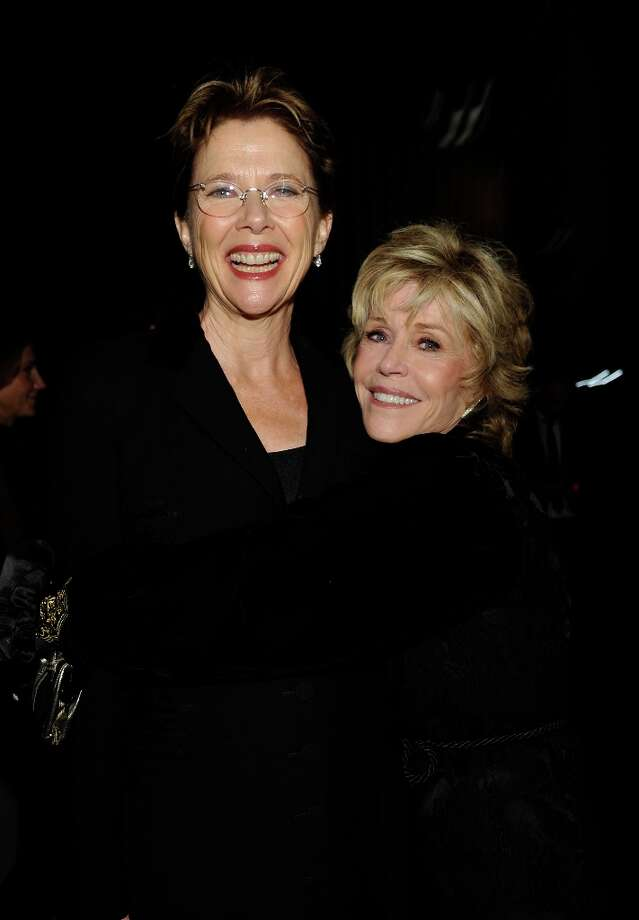 (L-R) Actresses Annette Bening and Jane Fonda attend LACMA 2012 Art + Film Gala Honoring Ed Ruscha and Stanley Kubrick presented by Gucci at LACMA on October 27, 2012 in Los Angeles, California. Photo: John Sciulli, Getty Images For LACMA / 2012 Getty Images