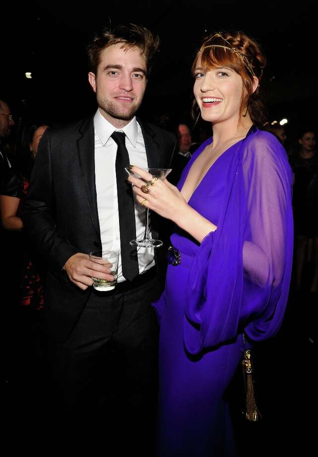 (L-R) Actor Robert Pattinson and singer Florence Welch attend LACMA 2012 Art + Film Gala Honoring Ed Ruscha and Stanley Kubrick presented by Gucci at LACMA on October 27, 2012 in Los Angeles, California. Photo: John Sciulli, Getty Images For LACMA / 2012 Getty Images