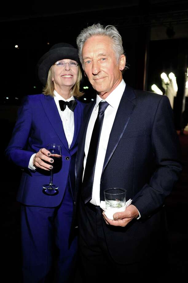Actress  Dianne Keaton (L) and artist Ed Ruscha attend LACMA 2012 Art + Film Gala Honoring Ed Ruscha and Stanley Kubrick presented by Gucci at LACMA on October 27, 2012 in Los Angeles, California. Photo: John Sciulli, Getty Images For LACMA / 2012 Getty Images