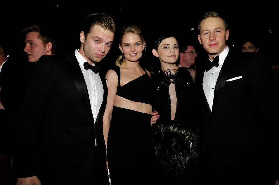 (L-R) Actor Sebastian Stan, Actress Jennifer Morrison, Actress Ginnifer Goodwin and Actor Josh Dalla