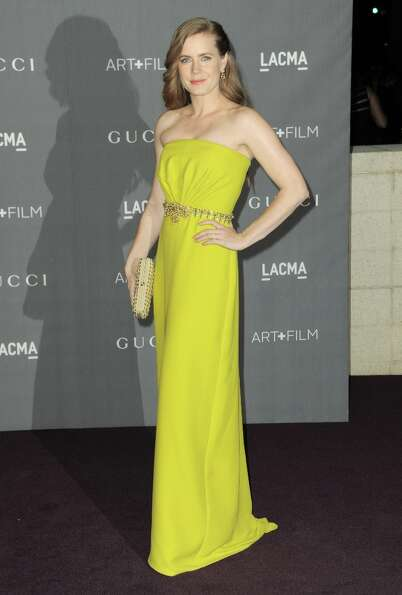 Amy Adams arrives at the 2012 ART + FILM GALA hosted by LACMA on Saturday, Oct. 27, 2012, in Los Ang