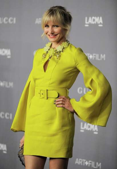 Actress Cameron Diaz arrives at the 2012 ART + FILM GALA hosted by LACMA on Saturday, Oct. 27, 2012,