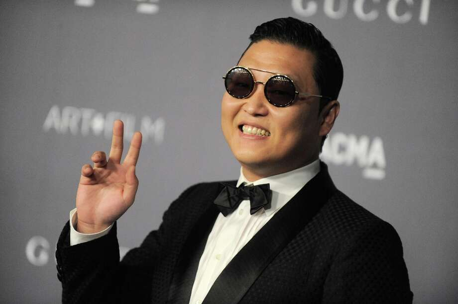 South Korean rapper Psy arrives at the 2012 ART + FILM GALA hosted by LACMA on Saturday, Oct. 27, 2012, in Los Angeles. Photo: Jordan Strauss, Associated Press / Invision