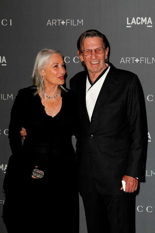 Susan Nimoy and Leonard Nimoy arrives at the LACMA ART + FILM GALA at the Los Angeles County Museum of Art on October 27, 2012 in Los Angeles, California. Photo: PATRICK T. FALLON, AFP/Getty Images / Patrick T. Fallon