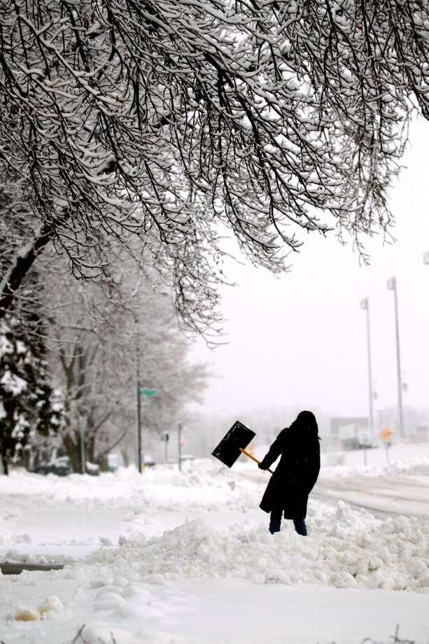 (File weather photo)Mar. 12-13, 1888 (Mon-Tue): Blizzard of 1888. (Associated Press)