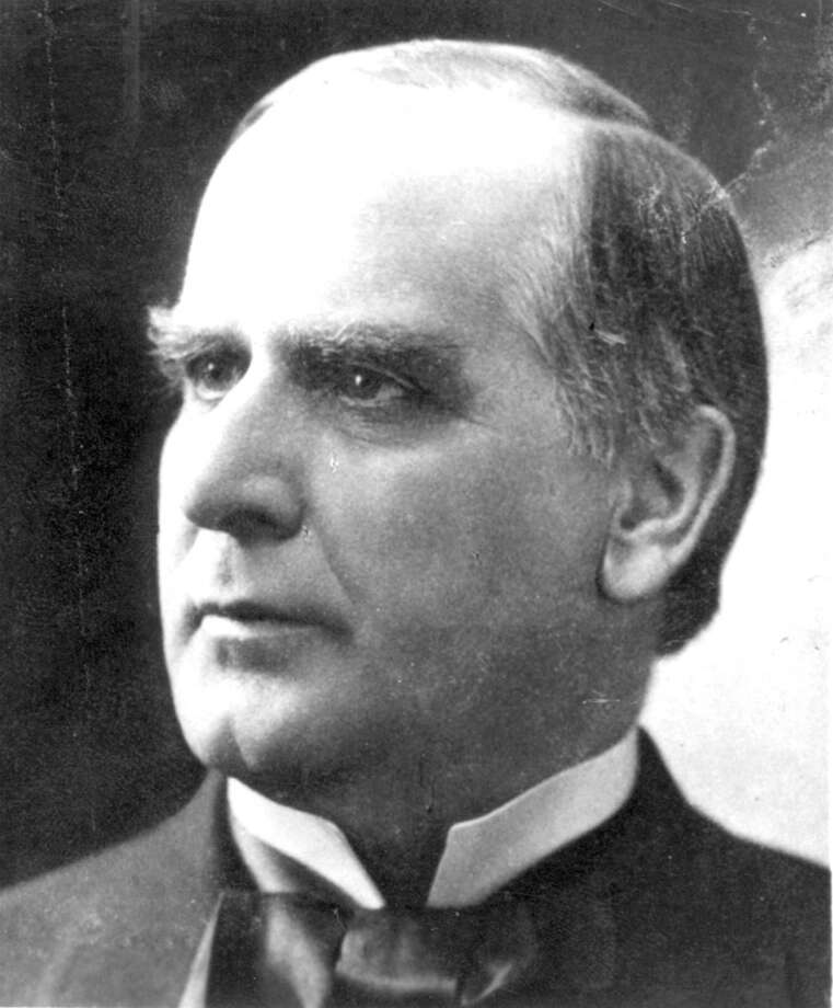 September 6, 1901: The assassination of William McKinley took place at the Temple of Music in Buffalo, New York. McKinley, attending the Pan-American Exposition, was shot twice in the abdomen by Leon Czolgosz, a self-proclaimed anarchist. The first bullet ricocheted off either a bullet-proof button or an award medal on McKinley's jacket and lodged in his sleeve but the second shot pierced his stomach. McKinley died eight days later, on September 14, 1901, at 2:15 a.m because the doctors forgot to drain his wound of infections before sewing the wound shut.From Wikipedia