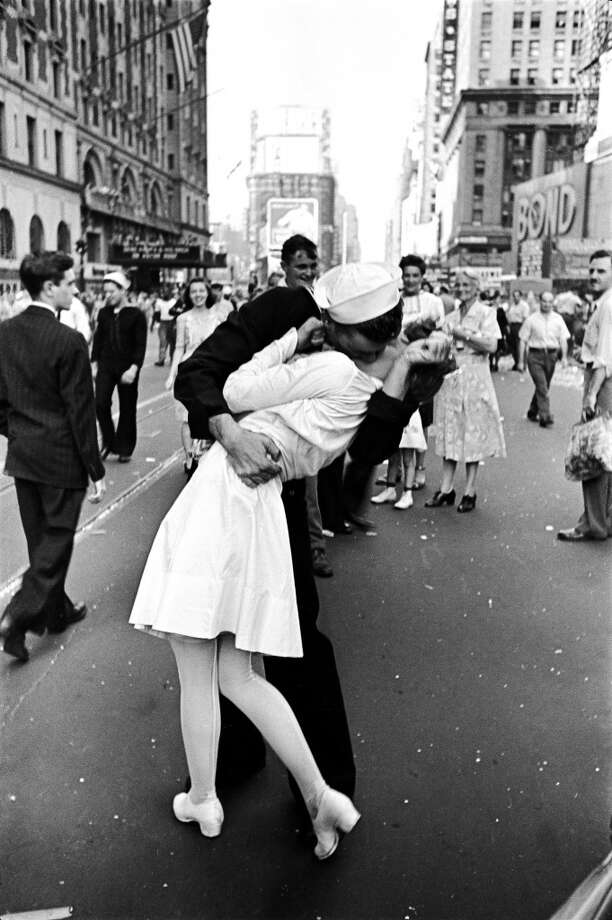 Aug. 15-16, 1945 (Wed-Thu): V-J Day. End of World War II.  (Alfred Eisenstaedt / Time & Life Pictures/Getty I)