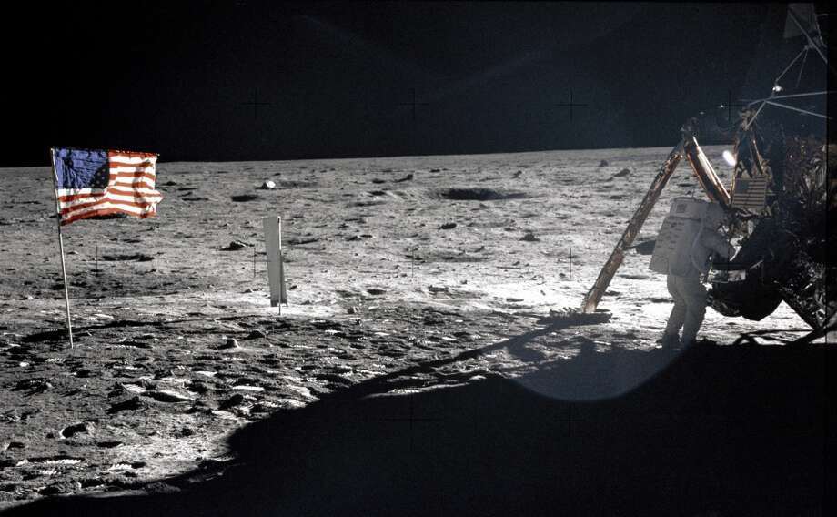 July 21, 1969 (Mon): National Day of Participation for the lunar exploration.  (AFP/Getty Images)