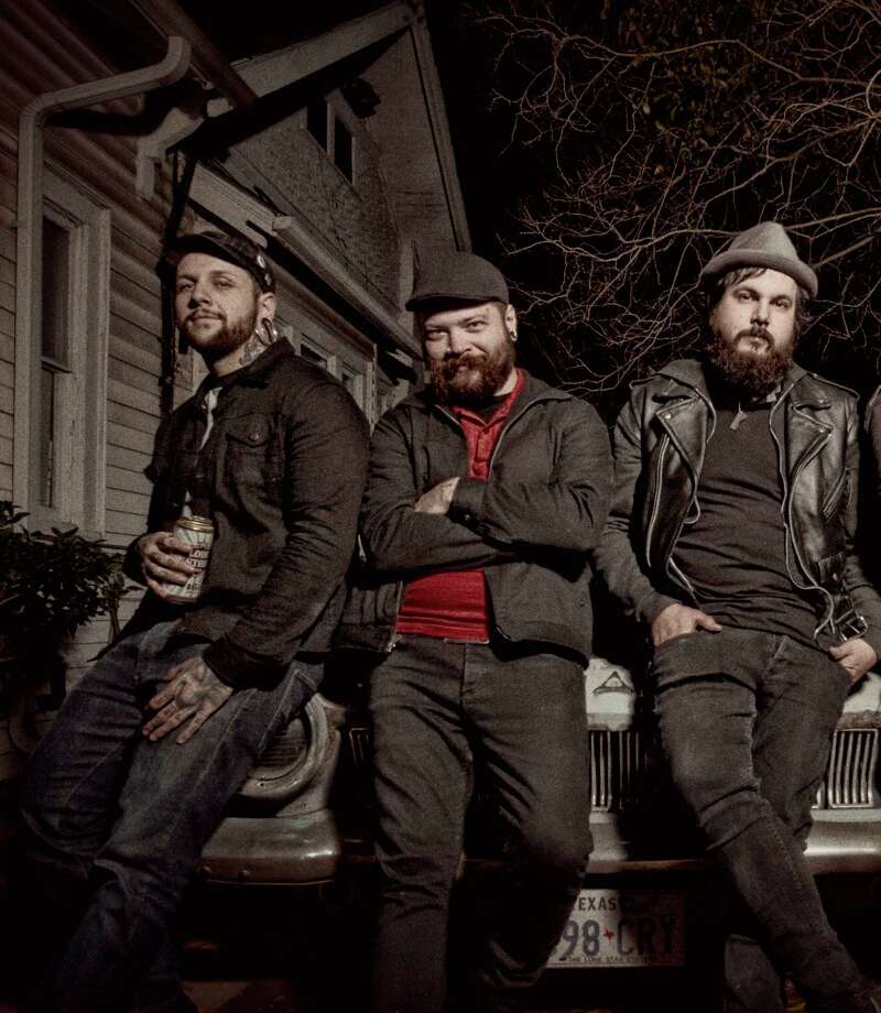 Houston punk rock band the American Heist show off some of the better beards in the local scene.  Photo: Danny Clark