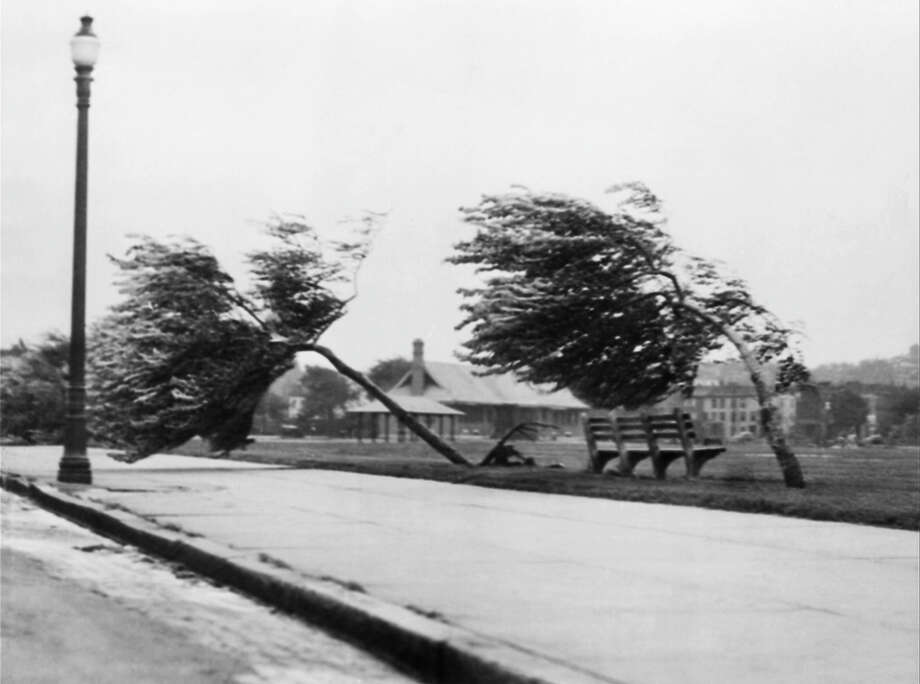 This Sep. 21, 1938 photo shows the Strandway in South Boston with 100-mile-an-hour hurricane winds which struck New England hard. It's been nearly 73 years since the Great New England Hurricane of 1938 _ one of the most powerful, destructive storms ever to hit southern New England, as another massive storm bears down. Photo: AP