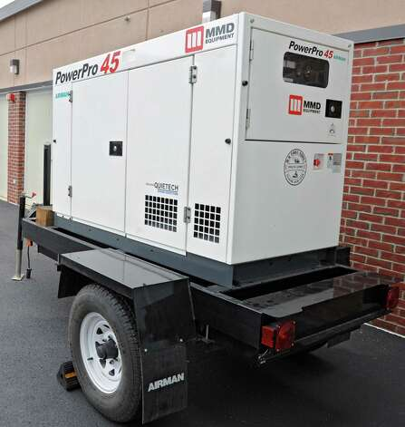 A large generator is parked outside the Albany County Sheriff's Office and Public Safety  & Community Resource Building which is set up as a shelter should Hurricane Sandy knock out power and wreak havoc on Monday, Oct. 29, 2012 in Clarksville, N.Y. The building used to be Clarksville Elementary School. (Lori Van Buren / Times Union) Photo: Lori Van Buren