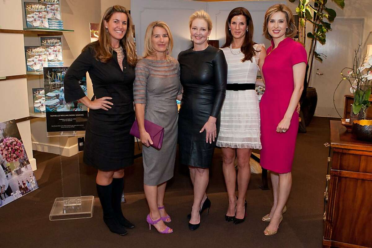 (From left): Hilary Armstrong, Summer Tompkins Walker (whose linens are featured in the book), author Danielle Rollins, Leslie Podell and Kate Harbin.
