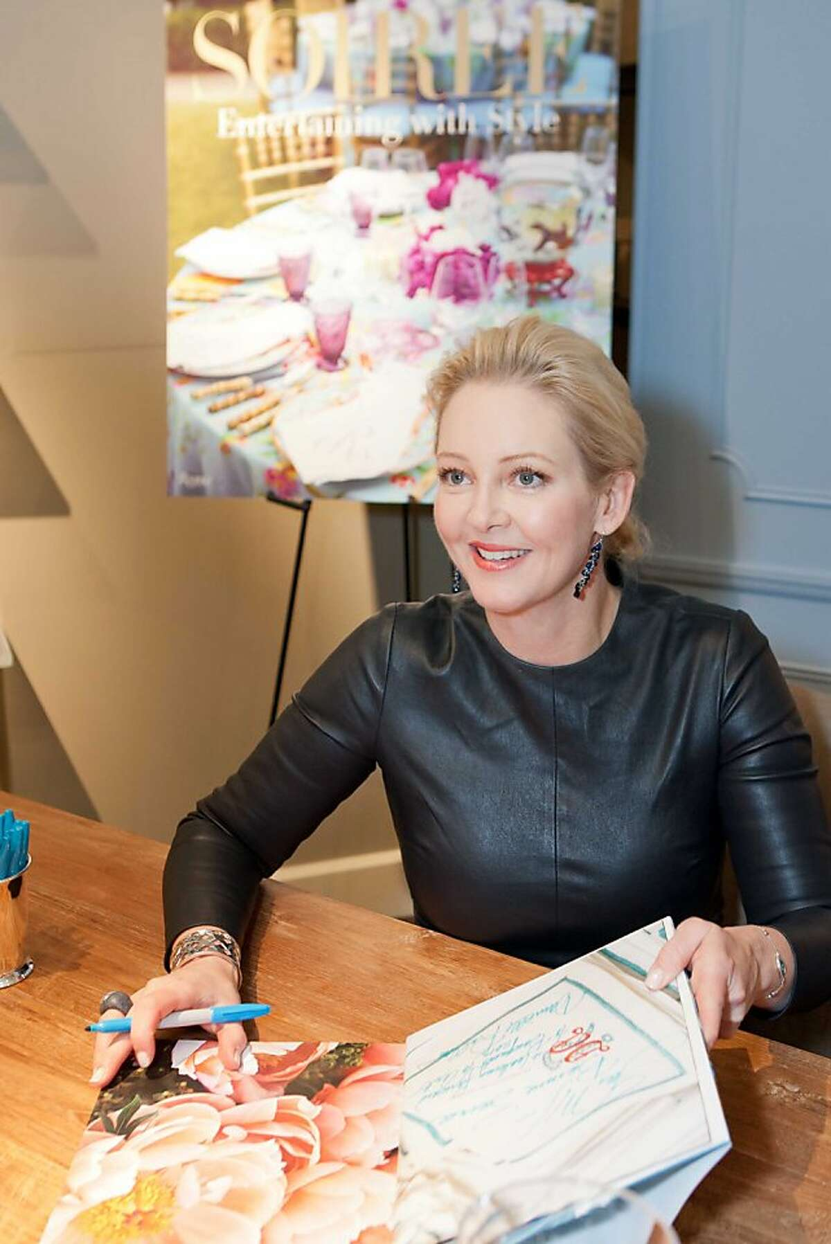 Atlanta society hostess Danielle Rollins, a longtime friend of several young San Francisco philanthropists, came to town to sign copies of her new book,