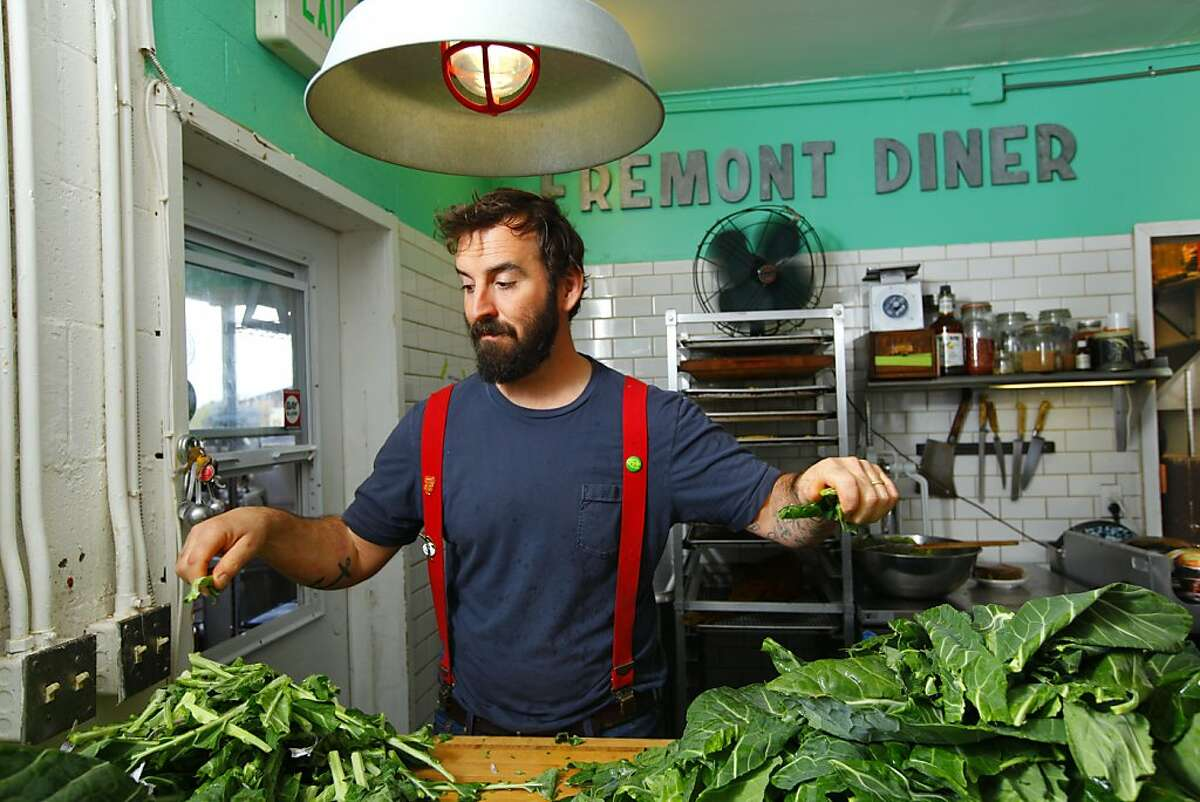 Chad Harris, chef and owner of The Fremont Diner in Sonoma, California on Thursday, October 25, 2012.