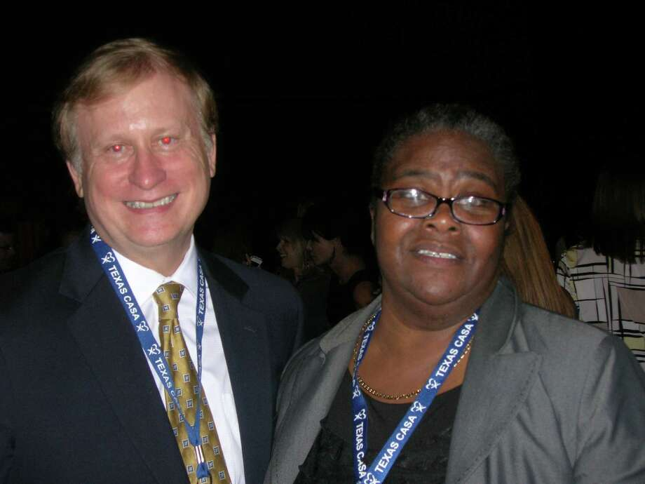 Judge Randy Shelton and CASA Court Program Director Eleanor Johnson. Photo: Provided