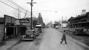 A view of Main Street in Bellevue, May 1946.
