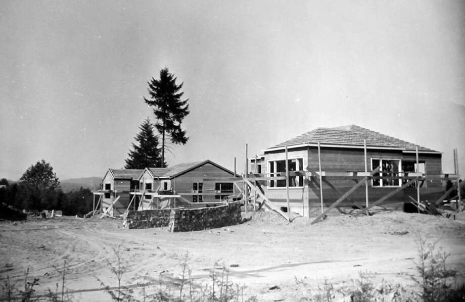 This picture from 1946 shos homes under construction in what's now downtown Bellevue. Photo: MOHAI, Seattle Post-Intelligencer Collection