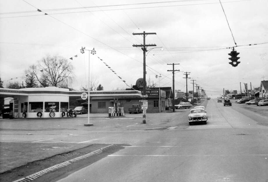 This photo of old Bellevue was taken in March 1956. Photo: MOHAI, Seattle Post-Intelligencer Collection