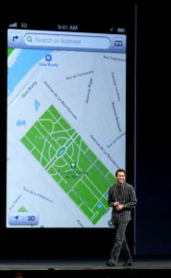 In the wake of the debacle, Apple CEO Tim Cook forced out iOS software head Steve Forstall, shown here debuting Apple Maps.
