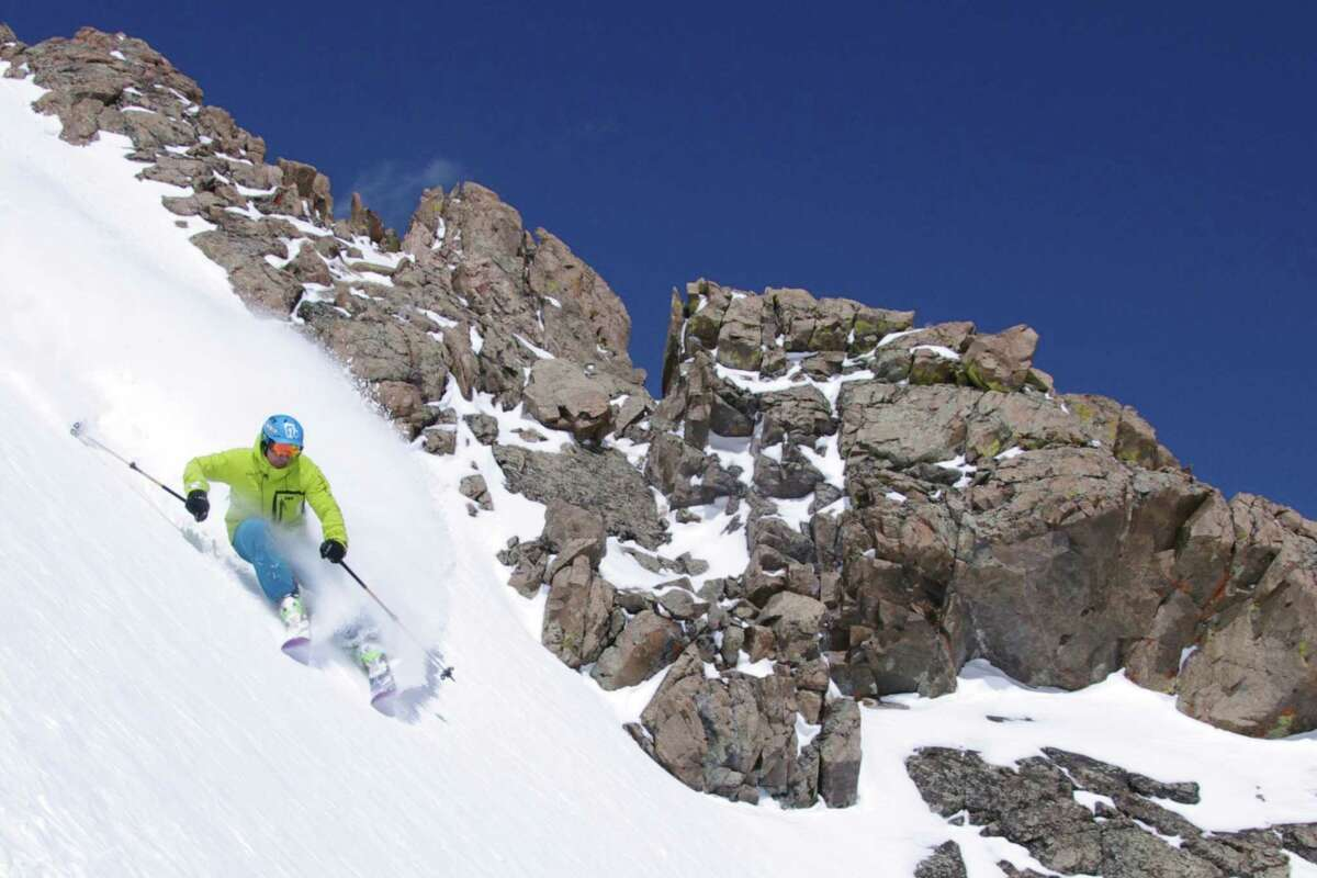 A skier takes on the ridge in Loveland at 13,000 feet.