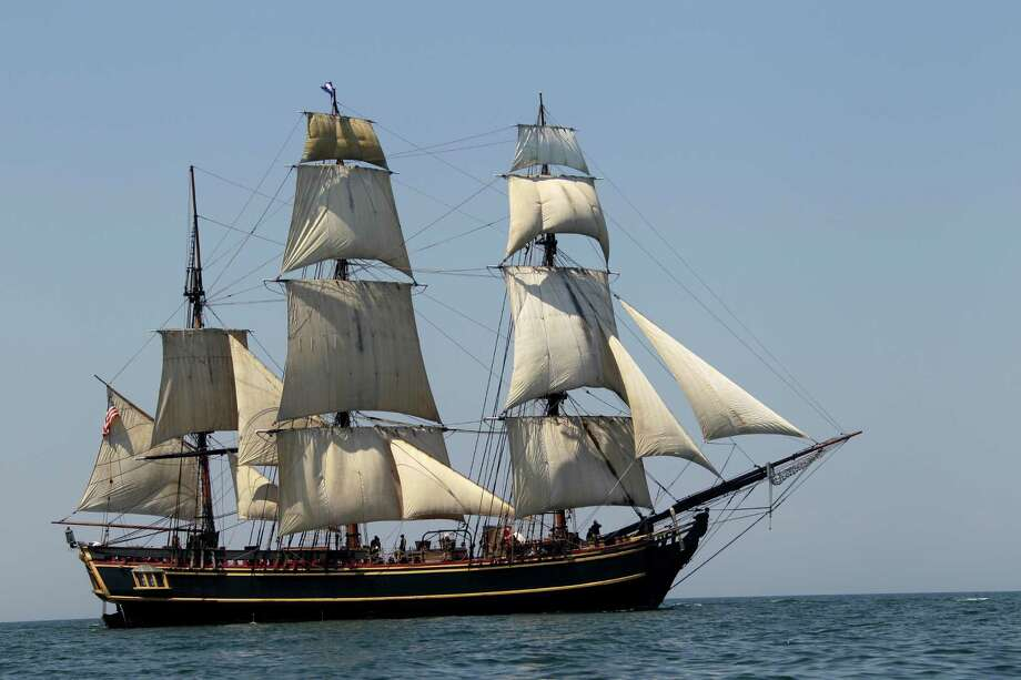 In this July 7, 2010, file photo, the tall ship HMS Bounty sails on Lake Erie off Cleveland. Photo: Mark Duncan, STF / AP