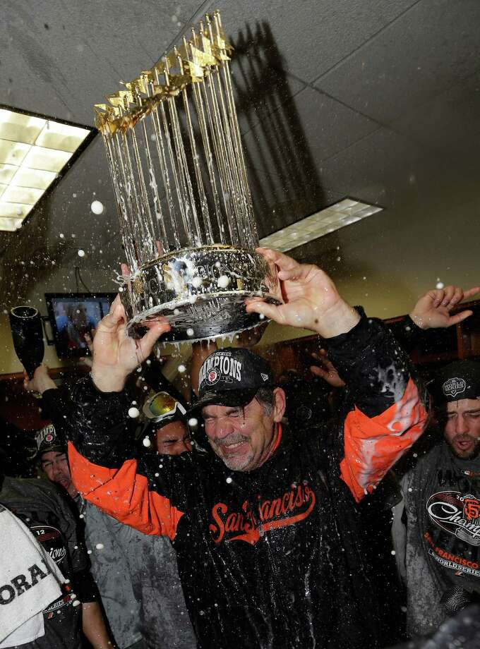 Manager Bruce Bochy's steady leadership was one of the few constants between the Giants' championship teams. Photo: David J. Phillip, STF / AP