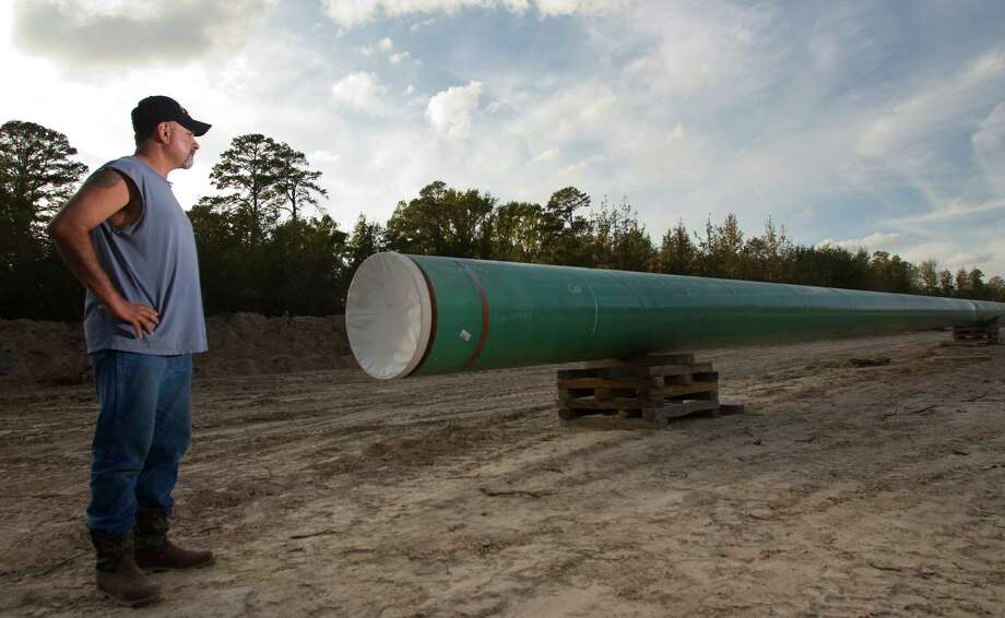 Gabe Cordova objects to TransCanada's Keystone XL pipeline coming through his mother's property in Winnsboro, east of the Dallas area, but TransCanada could get the right of way through eminent domain, so the family relented. Photo: Cody Duty, Staff / Houston Chronicle