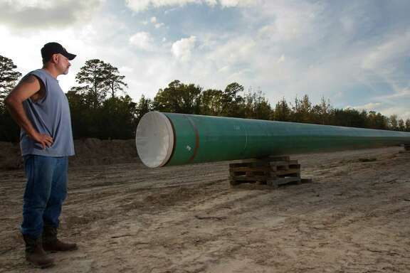 Gabe Cordova objects to TransCanada's Keystone XL pipeline coming through his mother's property in Winnsboro, east of the Dallas area, but TransCanada could get the right of way through eminent domain, so the family relented.