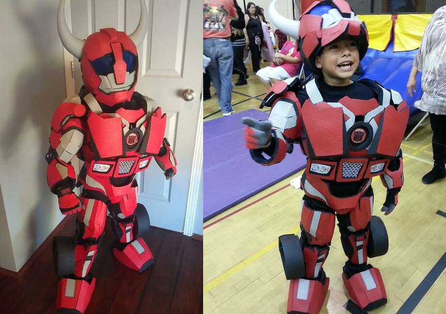 FINALIST! More than any other theme, I'm amazed how much better the homemade Transformers costumes look than the ones you buy in the store. Vince Vigil built this excellent Cliff Jumper costume for his 9-year-old son Ayden.