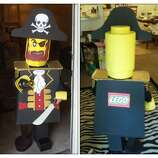 FINALIST! This excellent Lego Pirate comes from Elizabeth Russell. The more I look at this, the cooler it gets. My favorite details are the block-y Lego feet and the authentic Lego pirate sneer -- which appears to also be the viewing hole.
