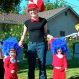 "FINALIST! Sean O'Steen reached the winner's circle in 2009 for his son's ""Up"" house. He returns with the whole family -- a ringmaster, Things 1 and 2, The Cat in the Hat and a Lego soccer player. Bonus points for the San Jose Earthquakes love."