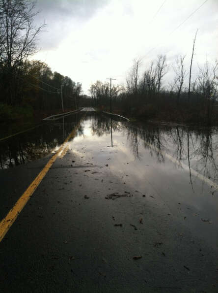Sandy caused flooding on Route 9J in northern Columbia County on Tuesday, Oct. 30, 2012. (SCOTT WALD