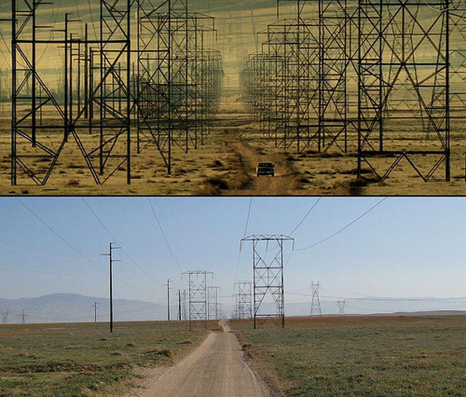 Seven: Some people wouldn't classify this as a horror movie, but Seven had some pretty scary parts. The final scene of the movie was shot in Palmdale, California. The top photo is from the movie and bottom is what it actually looks like today. (Photo: T. Hoffarth, Flickr) Photo: (Photo: T. Hoffarth,  Flickr)