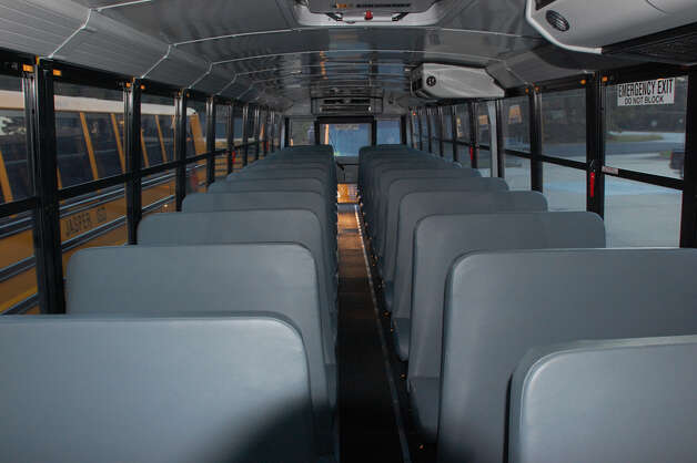 Interior of new JISD school buses. Photo: Jimmy Galvan