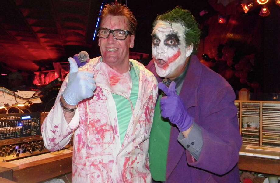 "Midnight Rodeo DJs Chris ""Dr. DJ"" Dickey (left) and Pete Anderberg (dressed as the joker) help keep the action lively at the club.  Courtesy photo Photo: Courtesy Photo"