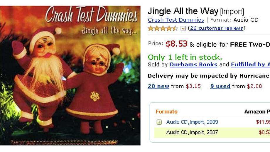 """Christmas songs just sound better when they're sung by someone with a deep voice. Singers like Bing Crosby, for instance, or Brad Roberts of the Crash Test Dummies on the band's holiday album, """"Jingle All the Way."""" Listen to his rendition of """"Jingle Bells"""" and you'll never think of the song in the same way again. Photo: Screen Grab"""