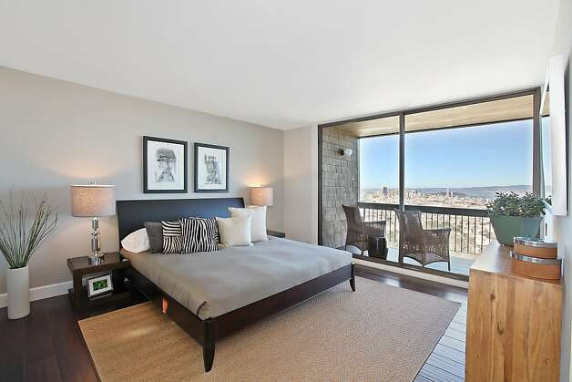 Situated on the top level, the master suite features a private deck. Photo: OpenHomesPhotography.com
