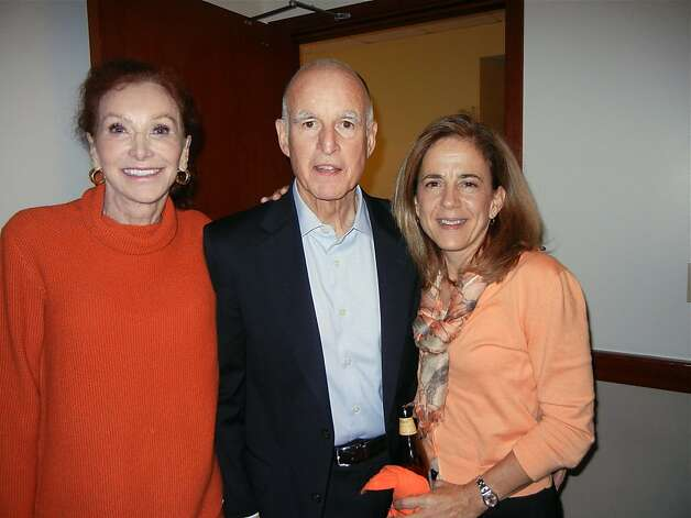 Ann Getty (left), Gov. Jerry Brown and his wife, Anne Gust Brown, during the World Series. Photo: Catherine Bigelow, Special To The Chronicle