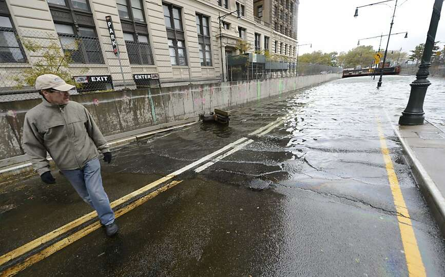 A flooded Brooklyn Battery park Tunnel October 30, 2012 as New Yorkers  clean up the morning after H