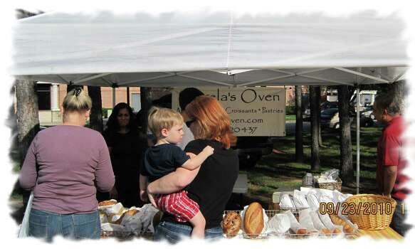 The family-owned and operated Angela's Oven bakery sells artisan breads and pastries each week at the Kingwood Farmers Market Photo: Contributed